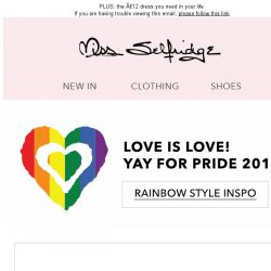 [Miss Selfridge] Love is Love!  #PRIDE2017