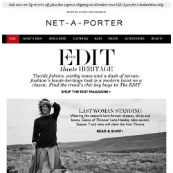 [NET-A-PORTER] Lena Headey on Game of Thrones and heritage fashion