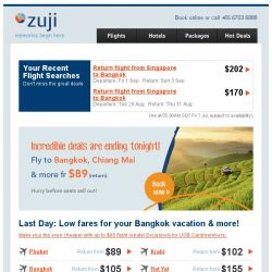 [Zuji] Last day! Bangkok, Phuket and more fr $89 (return).