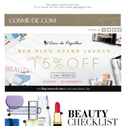 [COSME-DE.com] 🎉 You Just Can't Miss Our New Blog CELEBRATION & OFFERS!