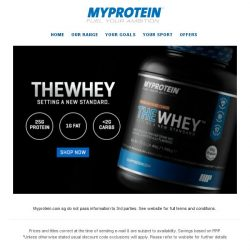 [MyProtein] Have you tried THEWHEY?