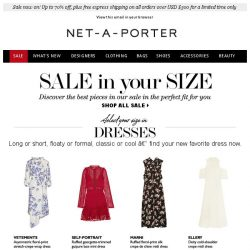 [NET-A-PORTER] Find the perfect sale piece in your size