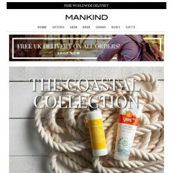 [Mankind] 20% off + Free Gift | Coastal Collection