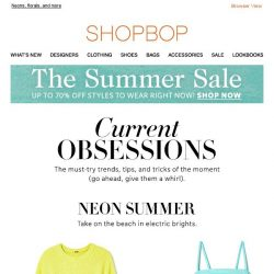 [Shopbop] 3 summer trends to try