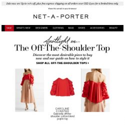[NET-A-PORTER] The off-the-shoulder update and how to wear it