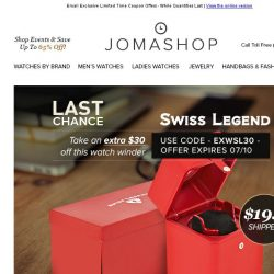 [Jomashop] FINAL HOURS: Dior $800 Coupon • Automatic Watch Winder $20 Shipped