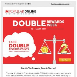 [Popular] Earn Double Reward Points Now On All Your Purchases With Us!