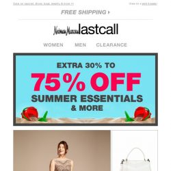 [Last Call] Fill out your summer wardrobe: extra 30%–75% off it all!