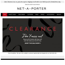 [NET-A-PORTER] Clearance now on – own the looks you love for less