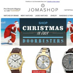 [Jomashop] CHRISTMAS IN JULY: 48 Hour Blowout Deals on Rolex, Dior, Versace, Invicta & More