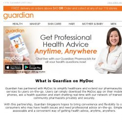 [Guardian] Download MyDoc app and get professional health advise anytime, anywhere!