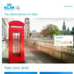 [KLM] Our top destinations are on sale!