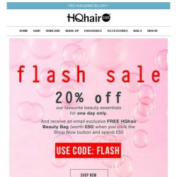 [HQhair] 1 day only | 20% off plus a FREE gift