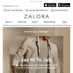 [Zalora] 🔥Our SALE season just got hotter: Extra 18% off your first order!
