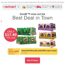 [Redmart] Best Deal in Town! Save up to 32% off with Nescafe and MILO