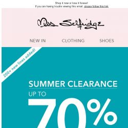 [Miss Selfridge] Up to 70% off FINAL CLEARANCE is here!