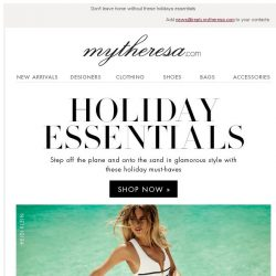 [mytheresa] Holiday pieces you need to pack + free shipping