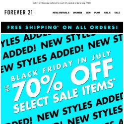 [FOREVER 21] Up to 70% off + NEW SALE STYLES!