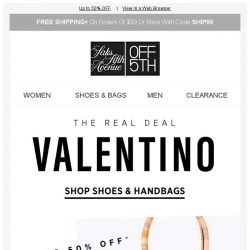 [Saks OFF 5th] The Real DEAL: Valentino Shoes & Handbags