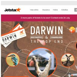 [Jetstar] Don't miss out on the chance to go on a trip for 2 to Darwin! Contest ends 24 July.