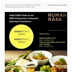 [Bay Hotel] Special Weekend Buffet Prices at our NEW Rumah Rasa!