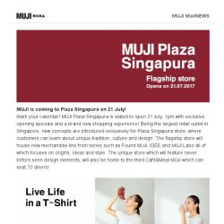 [Muji] Don't miss these exciting happenings at MUJI!