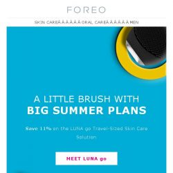 [Foreo] With a Bikini & LUNA go in Tow, You're Ready for Anything – Summer Sale