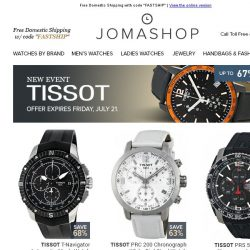 [Jomashop] NEW ARRIVALS: Tissot • JLC • Ray-Ban • Mido • Lucien Piccard