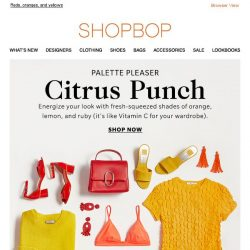 [Shopbop] Punch up your wardrobe with citrus brights