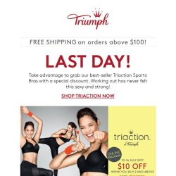 [Triumph] ⏰LAST DAY! $10 OFF Triaction Bras