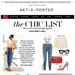[NET-A-PORTER] What to wear on your next date night