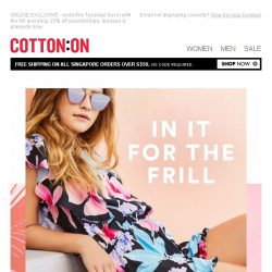 [Cotton On] Don't miss the fun: 25% off dresses & playsuits