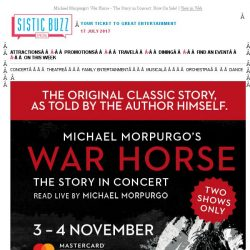 [SISTIC] Michael Morpurgo's War Horse - The Story in Concert. Now On Sale!