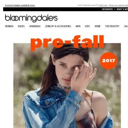 [Bloomingdales] The Pre-Fall Trends We're Already Obsessed With