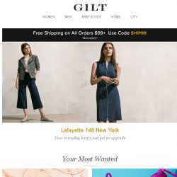 [Gilt] Lafayette 148 New York:Your everyday basics just got an upgrade. Plus, Effy Fine Jewelry: Up to 70% Off, The Bra Shop: By Size, Best Bedding Under $100 and More Start Today at Noon ET