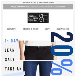 [Saks OFF 5th] EXTRA 20% OFF 7 For All Mankind, Hudson & MORE