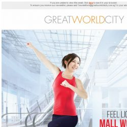 [Great World City]  Feel Lighter with Mall Workouts at Great World City on 26 July 2017!