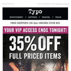 [typo] Your time is nearly up... 35% off.