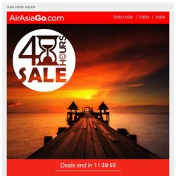 [AirAsiaGo] ⌚ Your deadline is midnight tonight. Don't miss out! ⌚