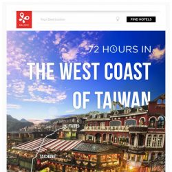 [Kaligo] , earn up to 7,600 Miles in just 72 hours, while exploring the West Coast of Taiwan!