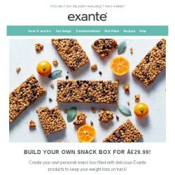[Exante Diet] Build Your Own Snack Box - Only £29.99!
