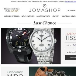 [Jomashop] LAST CHANCE: Jaeger-Lecoultre • Ray-Ban • Tissot • Mido • Lucien Piccard