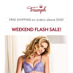 [Triumph] ⚡ ️Weekend Flash Sale: Limited Time Only!