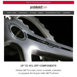 [probikekit] Up to 45% off Components...