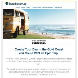 [Expedia] Enter for a Chance to WIN an Epic Trip to the Gold Coast