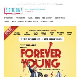 [SISTIC] Forever Young, the hilarious jukebox musical, 3-day 25% discount!