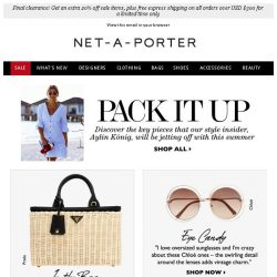 [NET-A-PORTER] Discover our style insider's packing essentials