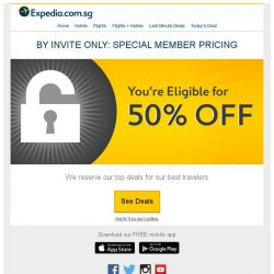 [Expedia] ⭕Well done! Expedia Customer, let us congratulate you with THIS 1/2 off discount