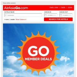 [AirAsiaGo] ✋ Member Deals | Awesome news, Get minimum 50% Off or more today! ✋
