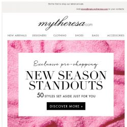 [mytheresa] Exclusive pre-shopping: new season standouts